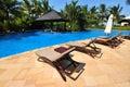 Swimmingpool in Boao 1 Lizenzfreie Stockfotos