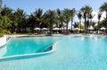 Swimmingpool in the tropical resort Royalty Free Stock Photo