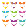 Swimsuits colorful on a white background Stock Image