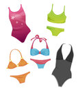 Swimsuits for girls set of the Royalty Free Stock Photos