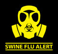 Swine Flu Alert design Royalty Free Stock Photos