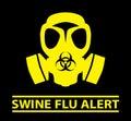 Swine Flu Alert design Royalty Free Stock Photo