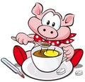 Swine flu cartoon Royalty Free Stock Photo