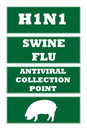 Swine flu road signs Royalty Free Stock Photos