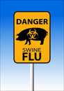 Swine flu sign Stock Image