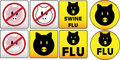 Swine Flu Signs Stock Photo