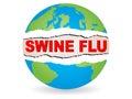Swine flu virus Royalty Free Stock Photo