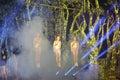Swing acrobatics of xiamen lingling circus amoy city china Royalty Free Stock Image
