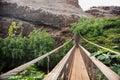 Swing bridge at the Menehune Ditch Royalty Free Stock Photo