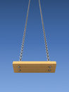 Swing on a chain over sky background d illustration Stock Photography