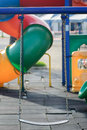 Swing in children play ground Royalty Free Stock Photo
