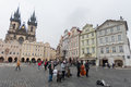 Swing jazz band play songs on Old Town Square, Prague, Czech Republic Stock Image