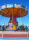 Swing ride in navy pier chicago il Stock Photos