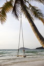 Swing on a tropical beach Royalty Free Stock Photo