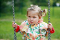 On the swings Royalty Free Stock Photos