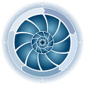 Swirl Circle Chart Royalty Free Stock Image