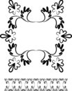 Swirl design frame and border Stock Images