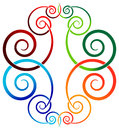 Swirl design isolated illustrated colorful Royalty Free Stock Photography
