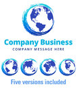 Swirl Global Company Business Logo Symbol Royalty Free Stock Photo