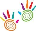 Swirl hands Stock Images