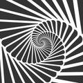 Swirl hypnotize spirals. Stair whirl hypnotism, spiral hypnotic Royalty Free Stock Photo