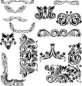 Swirl ornament elements collection Royalty Free Stock Image