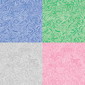 Swirl ornament (seamless vector wallaper) Stock Images