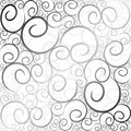 Swirl pattern black& white Royalty Free Stock Photo