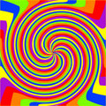 Swirl rainbow composition Stock Image