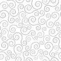 Swirl seamless pattern illustration of abstract lines Royalty Free Stock Photos