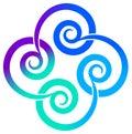 Swirl square Stock Image