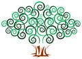 Swirl tree isolated illustrated image Royalty Free Stock Image