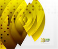 Swirl and wave 3d effect objects, abstract template vector design