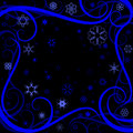 Swirl winter border Royalty Free Stock Image