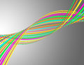 Swirling colorful lines Royalty Free Stock Photo