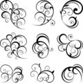 Swirling flourishes Stock Images