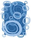 Swirls Circles Spirals Blue Royalty Free Stock Photo