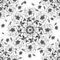 Swirls floral in seamless pattern Royalty Free Stock Image