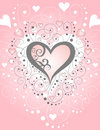 Swirls & Hearts Paper [VECTOR] Stock Photography