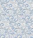 Swirls pattern abstract pale blue floral seamless Royalty Free Stock Image