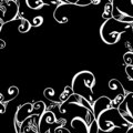 Swirls and scrolls lace border Stock Images