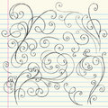 Swirls Sketchy Notebook Doodles Stock Photos