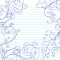 Swirls Sketchy Notebook Doodles Border Royalty Free Stock Images
