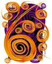 Swirls Spirals Pattern Texture Royalty Free Stock Photo