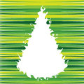 Swirly christmas tree Stock Photo