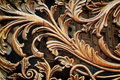 Swirly decoration closeup of a wall in london uk Royalty Free Stock Image