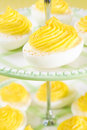 Swirly Deviled Eggs Royalty Free Stock Photography
