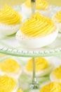 Swirly Deviled Eggs Royalty Free Stock Photo