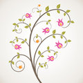 Swirly floral background Stock Images