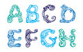 Swirly hand drawn font Stock Image